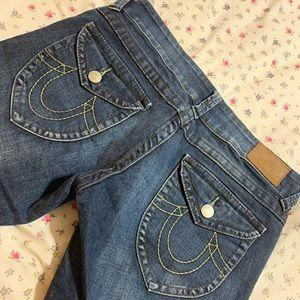 True Religion crop jeans size 31